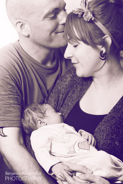 Beautiful family photography in Bristol. Mum Dad with new born baby.