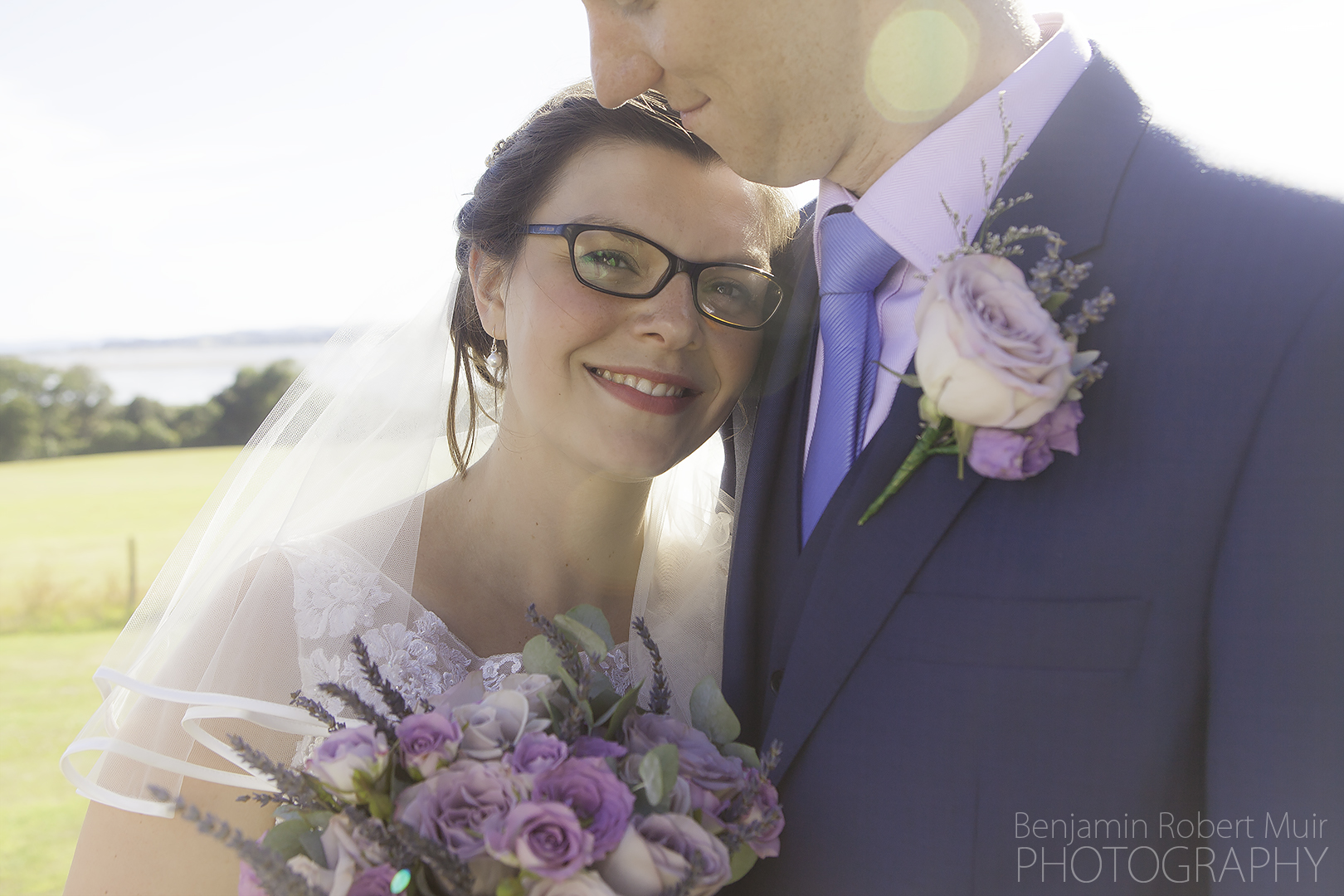 Exmouth Wedding Photographer photographing beautiful newly wed couple at Courtland House Exmouth Devon