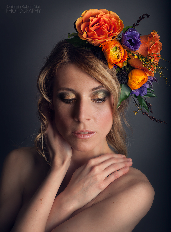 Benjamin Robert Muir Photography - Bristol Photographer - Creative Photoshoot - Model - Flower Crown - Florist