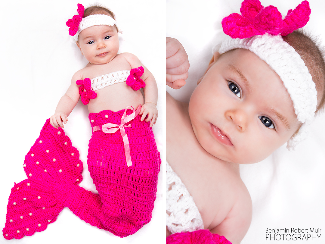 Roxy - baby photoshoot - mermaid - cute children photography - first photo shoot - Family photographer